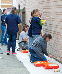 Pitt faculty, staff, and students donate their time and energy on many community projects during Pitt's Day of Caring.