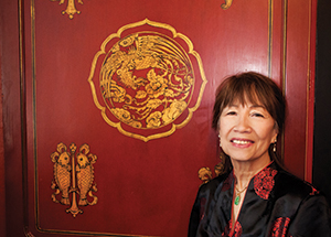 Karen Yee in the Chinese Nationality Room (Photo by Emily O'Donnell)