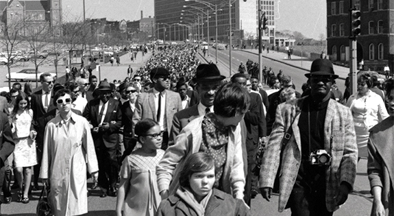 It was April 7, 1968, and a parade of black and white marchers, some linked arm in arm, walked down Centre Avenue from the Hill District to Downtown. The day had been declared a National Day of Mourning for Martin Luther King Jr., the prominent civil rights leader and clergyman who had been assassinated three days before, on April 4, as he stood on a balcony outside of his Memphis, Tenn., hotel room.