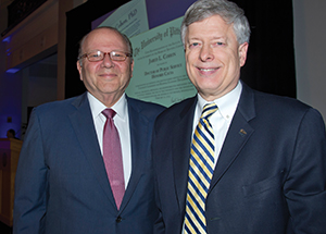 Jared L. Cohen (left) with Chancellor Nordenberg
