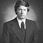 A younger Mark A. Nordenberg in the 1970s