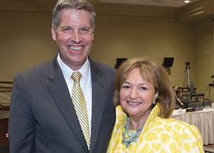 Eva Tansky Blum with Chancellor Gallagher