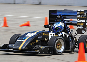 Car built by Pitt's Panther Racing Formula SAE Club