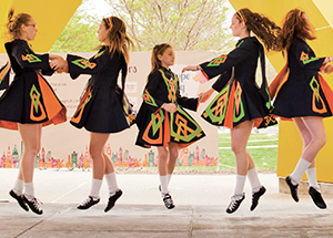 The Shovlin Academy of Irish Dance performs during the May 7 Pitt Europe Day celebration (Photo by Emily O'Donnell)