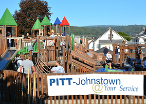 Since 2014, Real World Action Program participants have invested more than 3,000 volunteer hours resurrecting a playground in Moxham, a neighborhood in Johnstown.