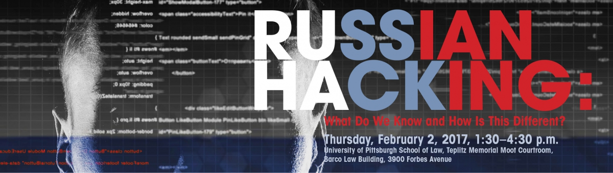 "The institute will host its first event ""Russian Hacking: What Do We Know and How is This Different?"" For more information and to RSVP for the Feb. 2 event, visit https://cyber.pitt.edu"