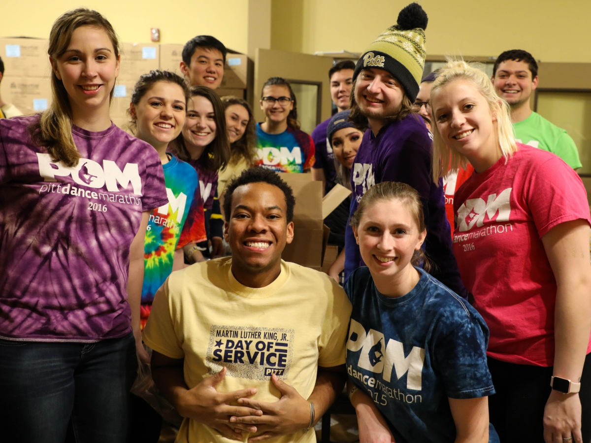 Among many other groups, students from the Pitt Dance Marathon and Theta Nu Chapter of Sigma Gamma Rho Sorority prepared packs of childhood necessities at Cribs for Kids.