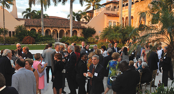 More than 250 Pitt alumni and friends gathered in Palm Beach for a Feb. 19 reception presented by the Office of Alumni Relations for the Schools of the Health Sciences and the Pitt Alumni Association, and hosted by Pitt trustee Herbert S. Shear and his wife, Barbara. Both Pitt Chancellor Mark A. Nordenberg and Arthur Levine, Pitt's senior vice chancellor for the health sciences and the John and Gertrude Petersen Dean of Medicine, addressed the group.