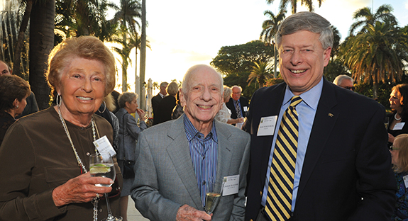 From left, Patricia and Charles Bluestone with Chancellor Nordenberg.