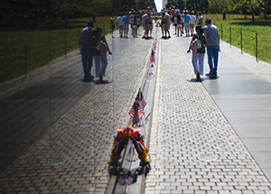 The Vietnam War Memorial in Washington, D.C.