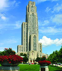 The Cathedral of Learning's Indiana limestone exterior was cleaned in 2007.