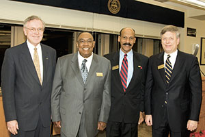 David E. Epperson, second from left