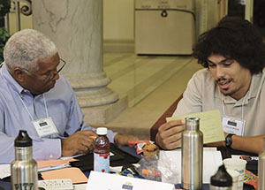 Tony Fountain, a retired executive for URS Corp. and former president of the Pitt African American Alumni Council, mentors a participating student.