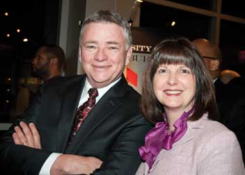 Pitt Board Chair Stephen Tritch (ENGR '71, KGSB '77) and his wife, Tami (A&S '81).