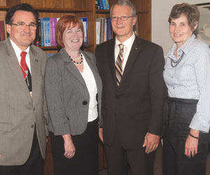 From left: Juan J. Manfredi, Patricia E. Beeson, David N. DeJong, and Alberta M. Sbragia