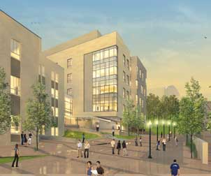 Artist's rendering of the proposed addition to Salk Hall