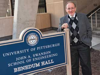 Pitt's Department of Bioengineering was established in the Swanson School of Engineering in 1998. Today, the department includes 23 full-time faculty, more than 100 faculty holding secondary appointments in bioengineering, 180 undergraduate students, and about 180 graduate students, two-thirds of whom are PhD candidates. It is chaired by Harvey Borovetz (pictured above), Distinguished Professor, Robert L. Hardesty Professor of Surgery, and a professor of chemical and petroleum engineering.