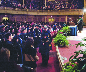 Pitt students, faculty, staff, and families gathered in Carnegie Music Hall, Oakland, on Feb. 26 for Pitt's 34th annual Honors Convocation.