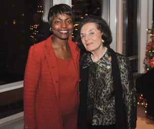 Pitt alumnus Frances Hesselbein (right) and retired Brigadier General Belinda H. Pinckney, who will deliver the July 25 Hesselbein Lecture in the O'Hara Student Center.
