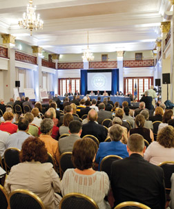 Alumni Hall's Connolly Ballroom was packed for the Sept. 12 Senate Appropriations Committee hearing.