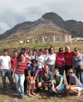 The PittMAP group, with Cape Town's District Six in background.