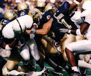 Pitt and Penn State in their last game opposing one another — Sept. 16, 2000.