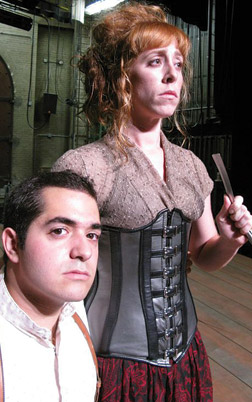 From left, Rocky Paterra as Tobias Ragg, and Theo Allyn as Mrs. Lovett