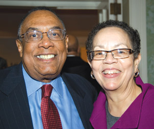 Pitt alumnus David E. Epperson, dean of Pitt's School of Social Work from 1972 to 2001, with his wife, Cecelia Trower Epperson, also a Pitt alumnus.