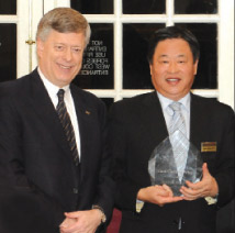 Mark A. Nordenberg (left) with Frank Gaoning Ning