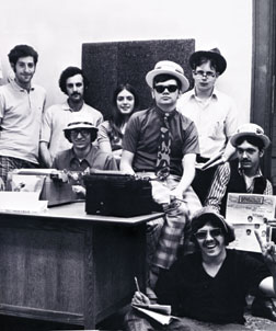 The editorial staff of The Pitt News, circa 1971
