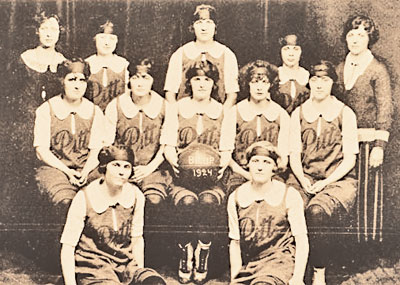 Pitt's 1924 women's basketball team