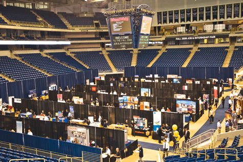 Pitt's Annual Fall Job Fair, held Oct. 1 in the Petersen Events Center,